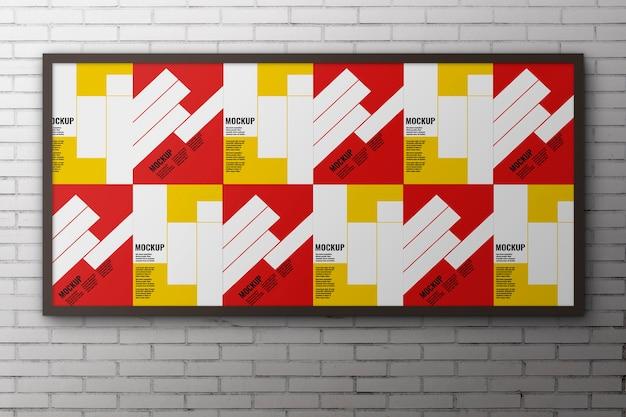 광고 모형을위한 대형 패널 무료 PSD 파일
