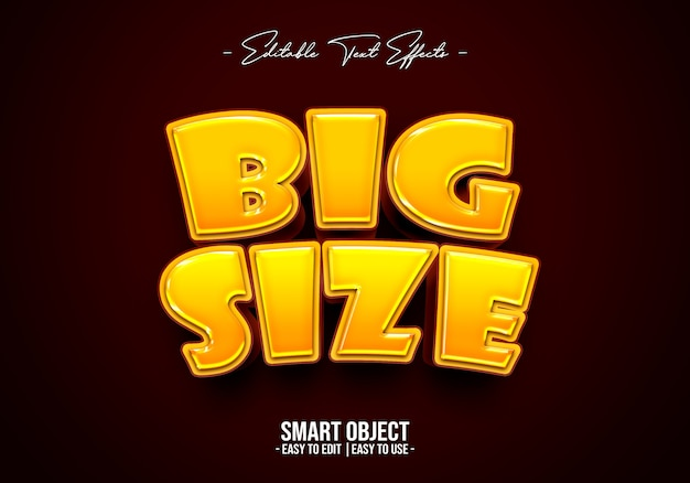 Big-size-text-style-effect 無料 Psd