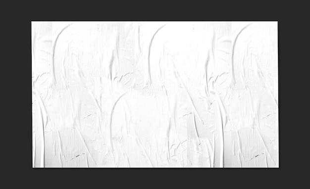 Big white panel in black surface mockup Free Psd