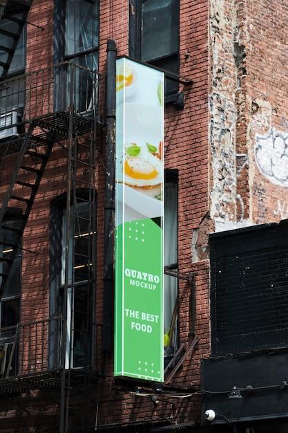 도시 모형 광고 판 무료 PSD 파일