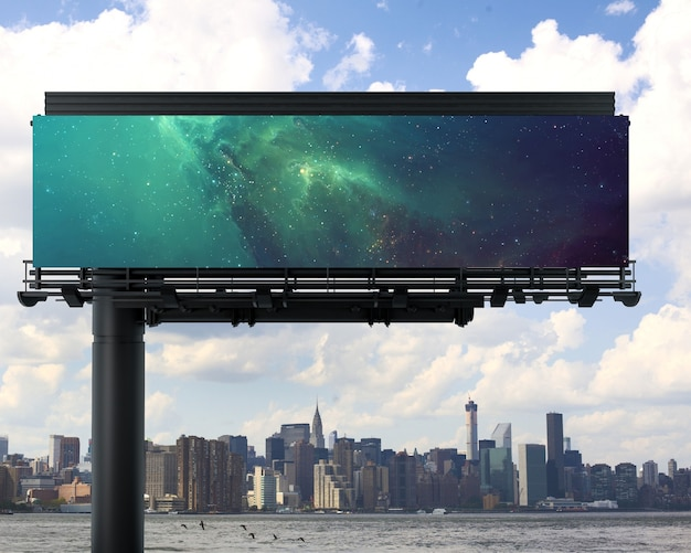 Billboard mock up design Free Psd