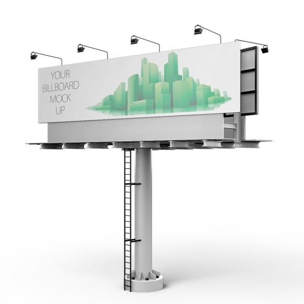 Billboard mock up design Free Psd