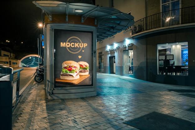 Billboard mockup in urban environment Free Psd