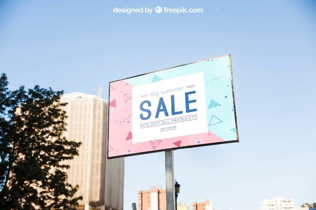 Billboard mockup template Free Psd