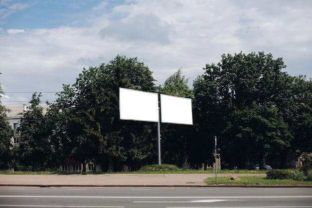 Billboard with blank surface for advertising Free Psd