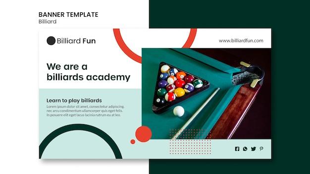 Billiard concept banner mock-up Free Psd