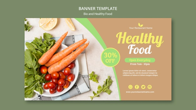 Bio and healthy banner template Free Psd