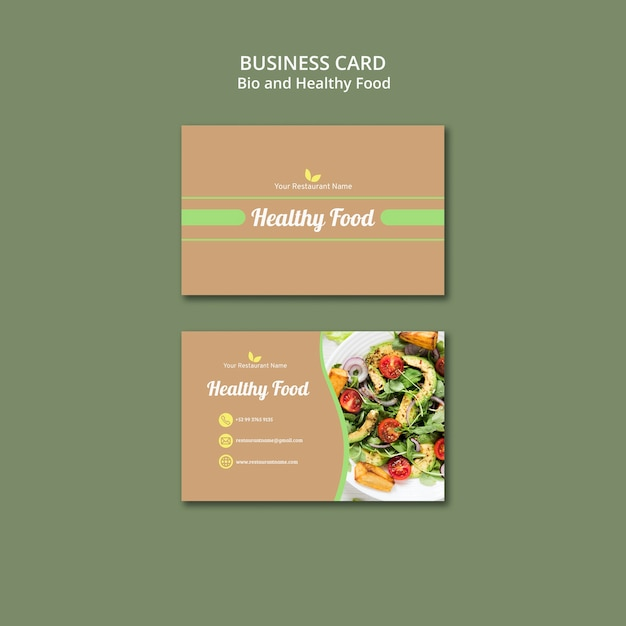 Bio and healthy business card Free Psd