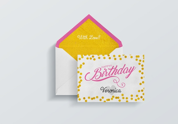 Birthday Card Mock Up Free Psd