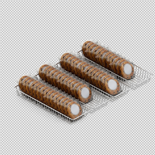 Biscuits 3d isolated render Premium Psd