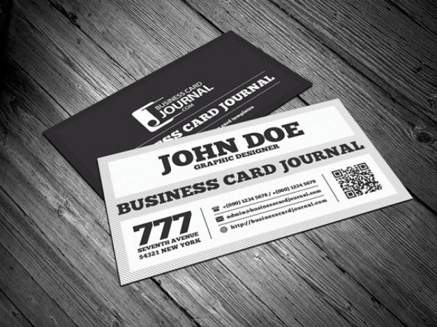 Black and white business card template psd file free download black and white business card template free psd friedricerecipe Gallery