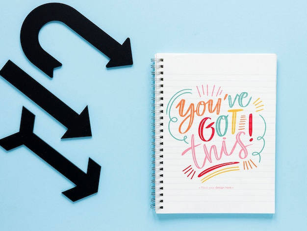 Black arrows with you've got this lettering Free Psd