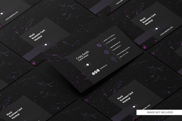 Black business card mockup Premium Psd