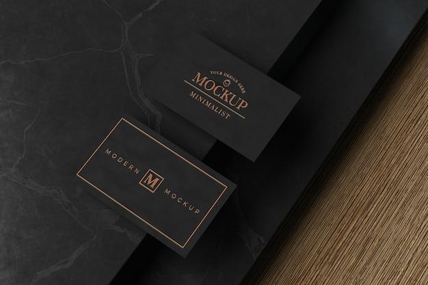 블랙 명함 모형 프리미엄 PSD 파일