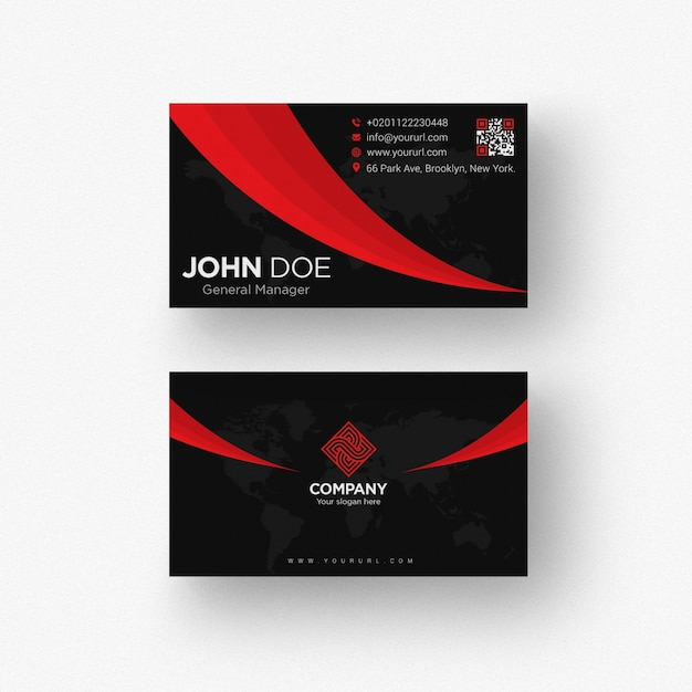 Black business card template psd file premium download black business card template premium psd reheart Choice Image