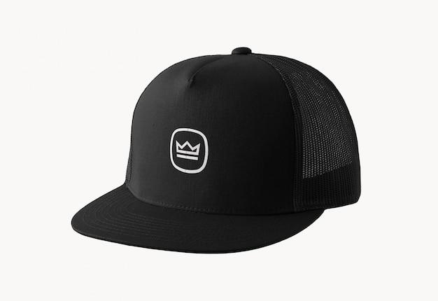 Black cap logo mockup Premium Psd