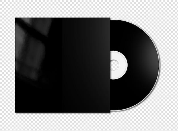 Black cd - dvd mockup isolated Premium Psd