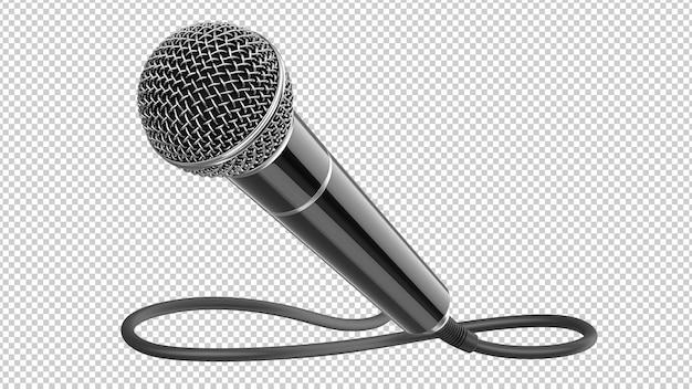 Черный динамический микрофон с изолированным кабелем Premium Psd