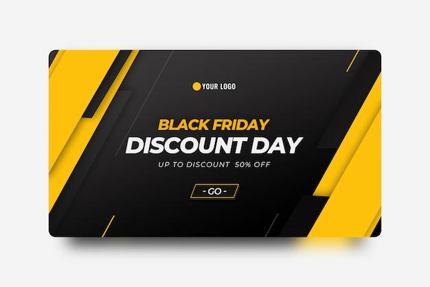 Black friday banner template Premium Psd
