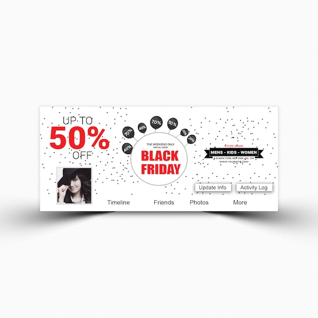 Black Friday Facebook Cover Template Premium Psd