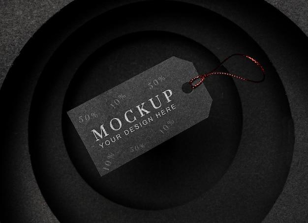 Cartellino del prezzo nero mock-up venerdì nero Psd Gratuite