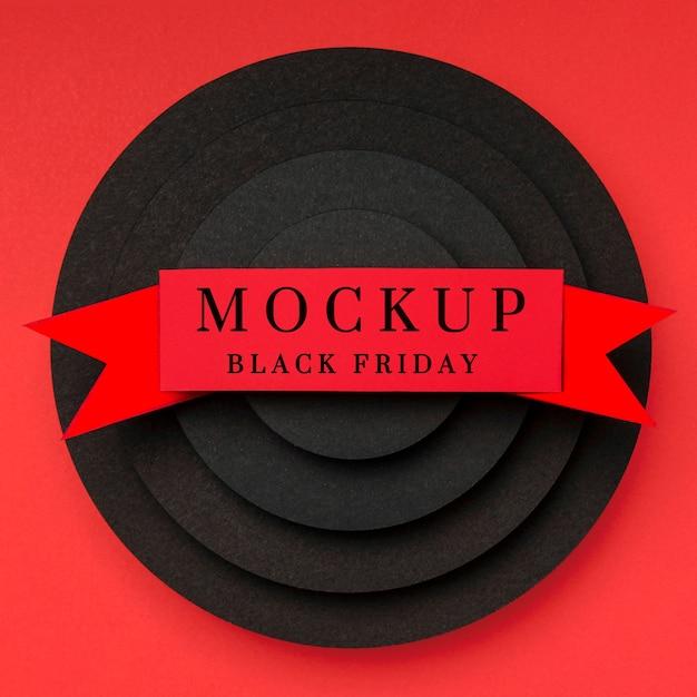 Strati e nastro di mock-up del venerdì nero Psd Gratuite