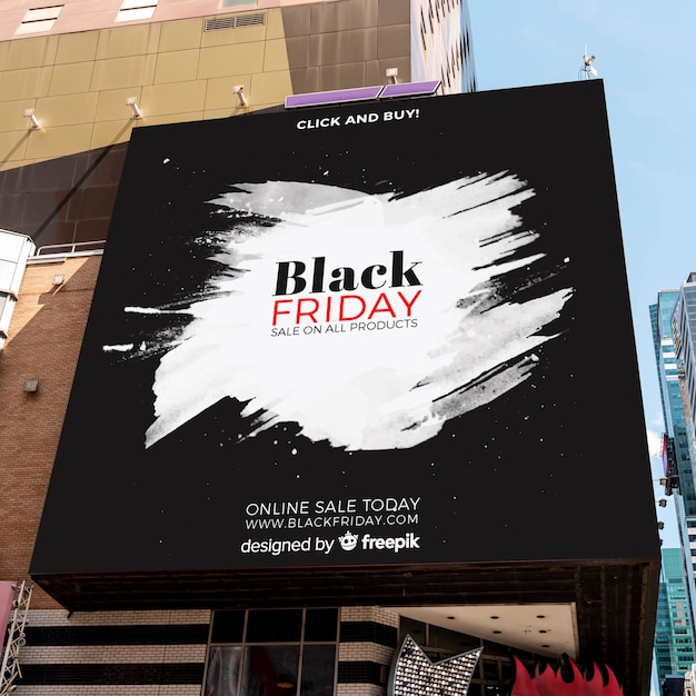 Black friday mock-up outdoors Free Psd