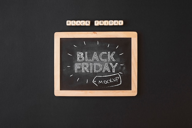 Black friday mockup with slate Free Psd
