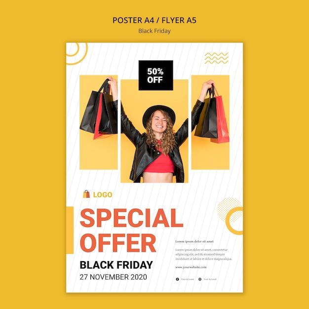 Modello di poster di offerta venerdì nero Psd Gratuite