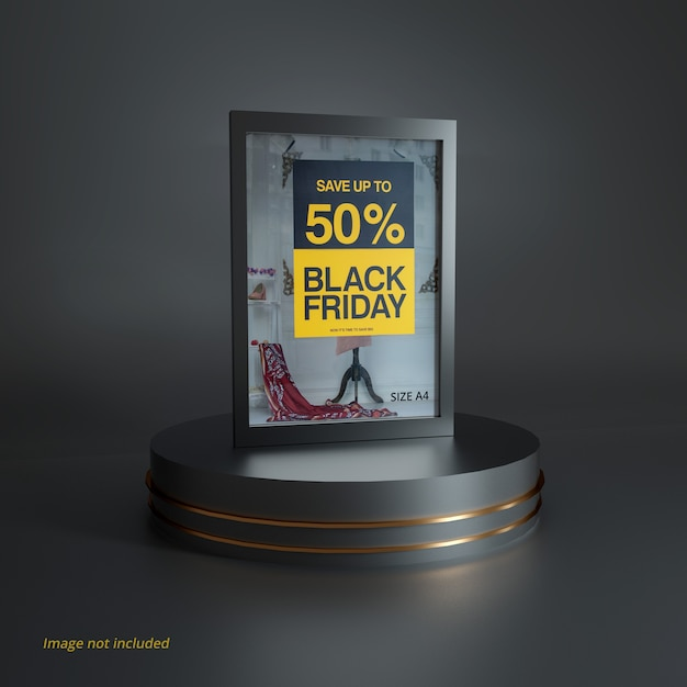 Black friday poster mockup scene Premium Psd