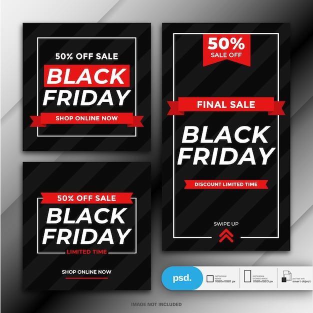 Black friday sale social media banner template Premium Psd