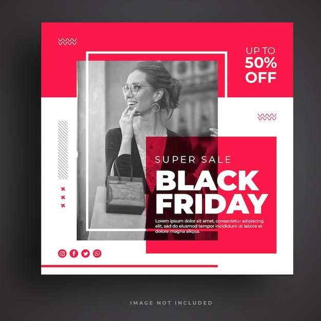 Black friday sale social media banner template Premium Psd