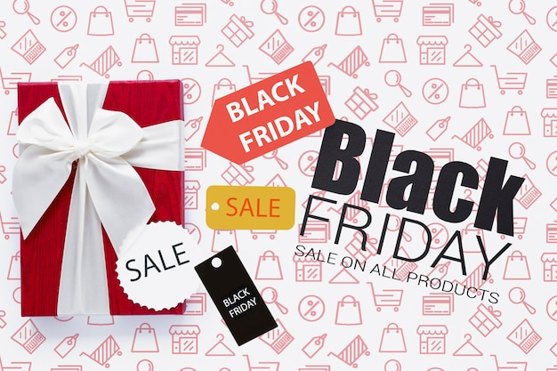 Black friday sales concept with discounts Free Psd