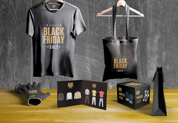 Black friday scene creator mock-up Free Psd