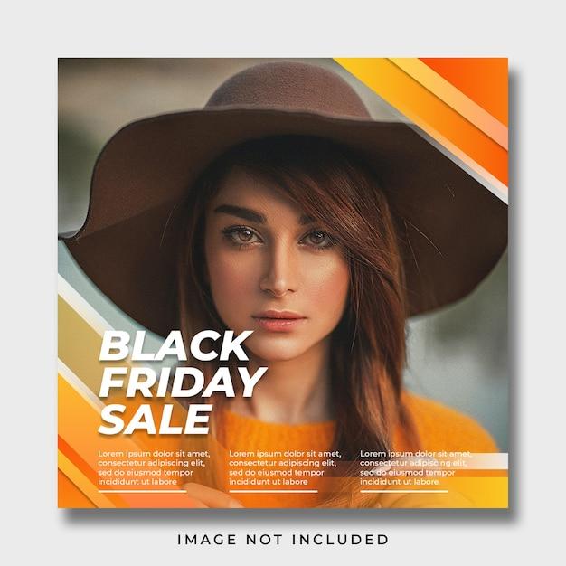 Black friday social media banner template Premium Psd