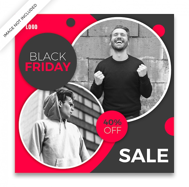 Black friday social media post template Premium Psd