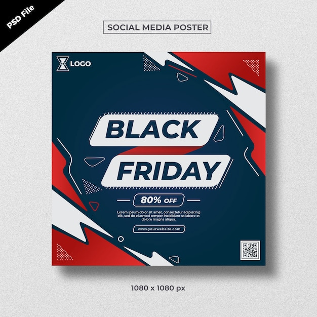 Black friday social media poster Premium Psd