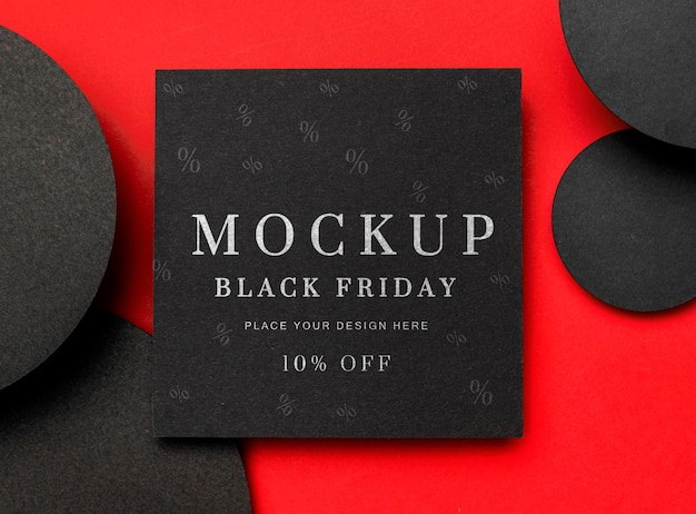 Black friday squared mock-up Free Psd
