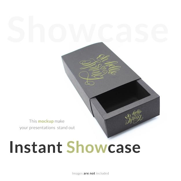 black gift box mock up psd file free download