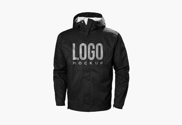 블랙 재킷 로고 모형 디자인 절연 프리미엄 PSD 파일