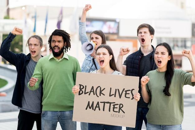 Il nero vive il concetto di materia mock-up Psd Gratuite
