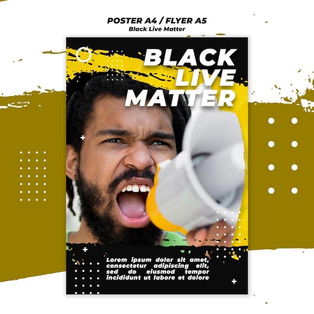 Black lives matter flyer theme Free Psd