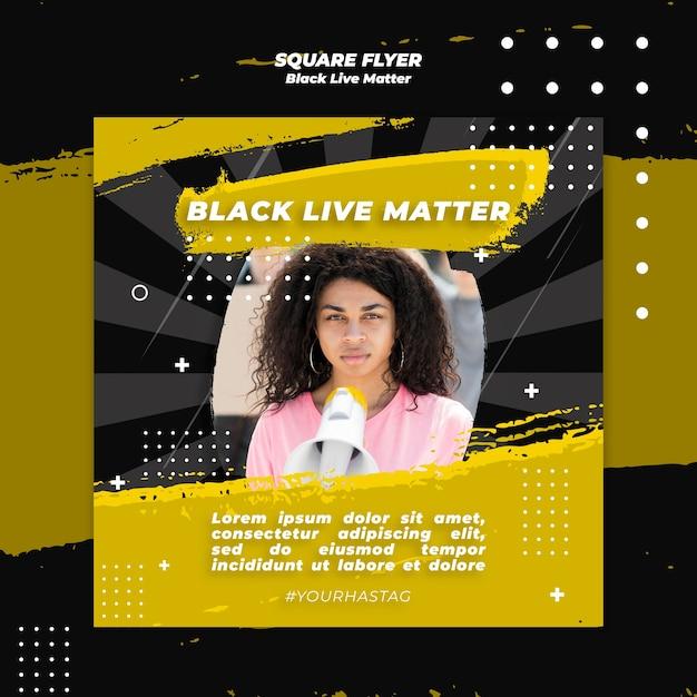 Black lives matter flyer Free Psd