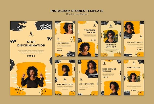 Le vite nere contano il modello di storie di instagram Psd Gratuite