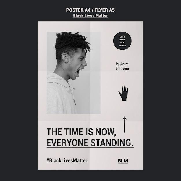 Black lives matter movement flyer Free Psd