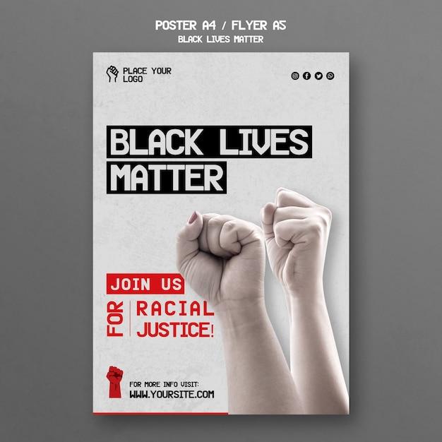 Черный постер вопрос материи Бесплатные Psd