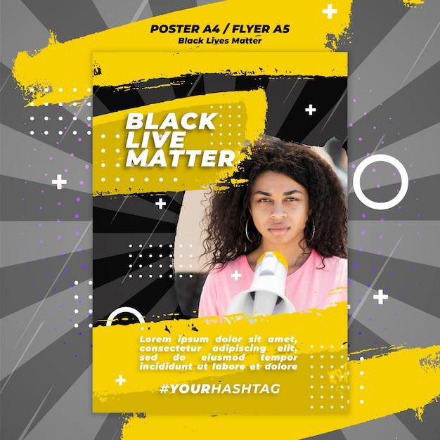 검은 생명 문제 포스터 템플릿 무료 PSD 파일