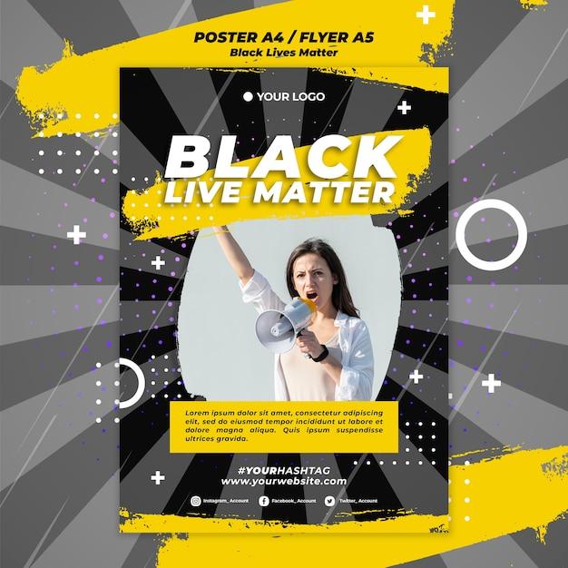 Black lives matter poster Free Psd