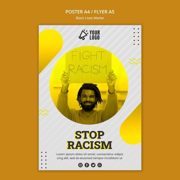 Плакат о черных жизнях Бесплатные Psd