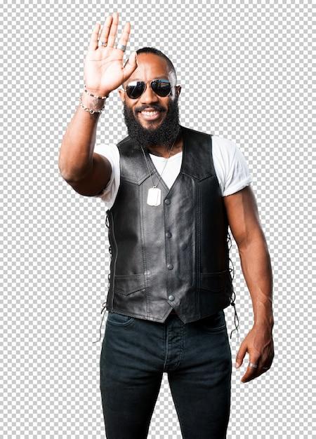 Black man greeting Premium Psd